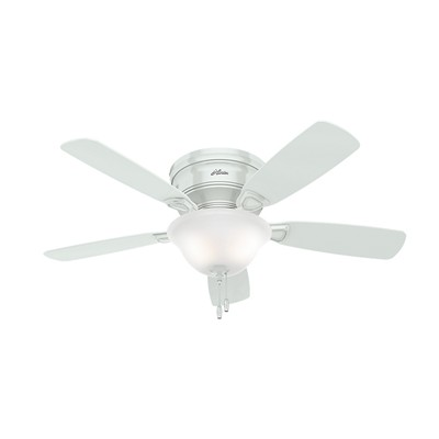 hunter fan Low Profile - 48in White Bowl Light Kit 52062 FAN Low Profile 48in White Bowl Light Kit