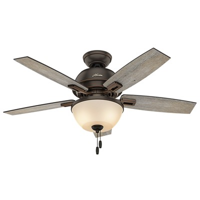 hunter fan Donegan Collection - 44in Onyx Bengal Bowl Light Kit 52225 FAN Donegan 44in Onyx Bengal Bowl Light Kit