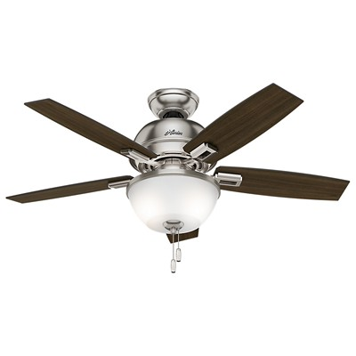hunter fan Donegan Collection - 44in Brushed Nickel Bowl Light Kit 52227 FAN Donegan 44in Brushed Nickel Bowl Light Kit