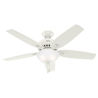 hunter fan Newsome Collection - 52in Fresh White Bowl Light Kit 53310 FAN Newsome 52in Fresh White Bowl Light Kit
