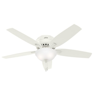 hunter fan Newsome Collection - 52in Fresh White Low Profile Bowl Light Kit 53313 FAN Hunter Ceiling Fans  Newsome 52in Fresh White Low Profile Bowl Light Kit