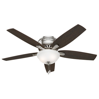 hunter fan Newsome Collection - 52in Brushed Nickel Low Profile Bowl Light Kit 53315 FAN Newsome 52in Brushed Nickel Low Profile Bowl Light Kit