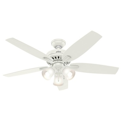 hunter fan Newsome Collection - 52in Fresh White Three Light Kit 53316 FAN Newsome 52in Fresh White Three Light Kit