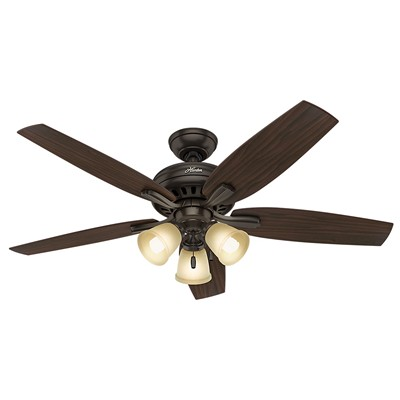 hunter fan Newsome Collection - 52in Premier Bronze Three Light Kit 53317 FAN Newsome 52in Premier Bronze Three Light Kit