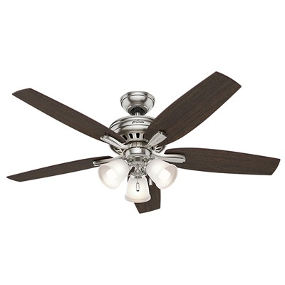 hunter fan Newsome Collection - 52in Brushed Nickel Three Light Kit 53318 FAN Newsome 52in Brushed Nickel Three Light Kit