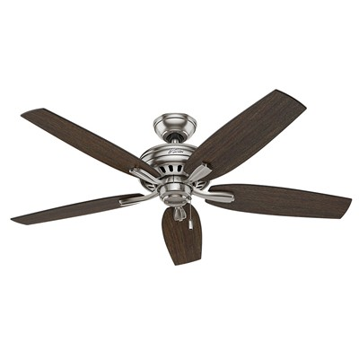 hunter fan Newsome Collection - 52in Brushed Nickel No Light Kit 53321 FAN Hunter Ceiling Fans