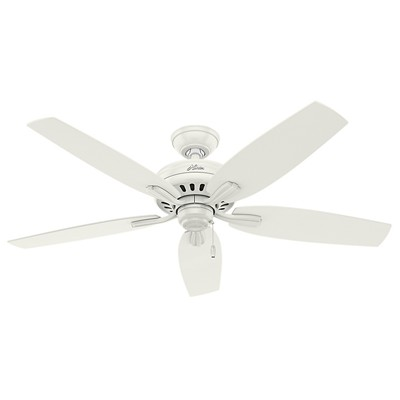 hunter fan Newsome Collection - 52in Fresh White No Light Kit ETL Damp 53322 FAN Hunter Ceiling Fans