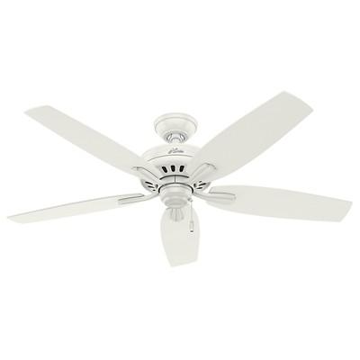 hunter fan Newsome Collection - 52in Fresh White No Light Kit ETL Damp 53322 FAN Hunter Ceiling Fans