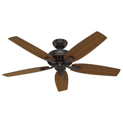 hunter fan Newsome Collection - 52in Premier Bronze No Light Kit ETL Damp 53323 FAN Newsome 52in Premier Bronze ETL Damp Fan