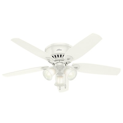 hunter fan Builder Low Profile - 52in Snow White Three Light 53326 FAN Hunter Ceiling Fans  Builder Low Profile 52in Snow White Fan