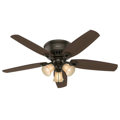 hunter fan Builder Low Profile - 52in New Bronze Three Light 53327 FAN Hunter Custom Builder Fans
