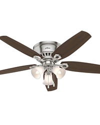 Builder Low Profile 52in Brushed Nickel Fan by