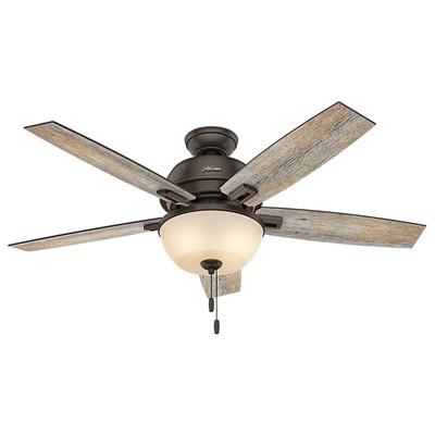 hunter fan Donegan Collection - 52in Onyx Bengal Bowl Light Kit 53333 FAN Hunter Ceiling Fans  Donegan 52in Onyx Bengal Fan