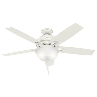 hunter fan Donegan Collection - 52in Fresh White Bowl Light Kit 53334 FAN Donegan 52in Fresh White Fan
