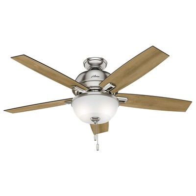 hunter fan Donegan Collection - 52in Brushed Nickel Bowl Light Kit 53335 FAN Donegan 52in Brushed Nickel Fan
