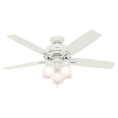 hunter fan Donegan Collection - 52in Fresh White Three Light Light Kit 53337 FAN Hunter Ceiling Fans