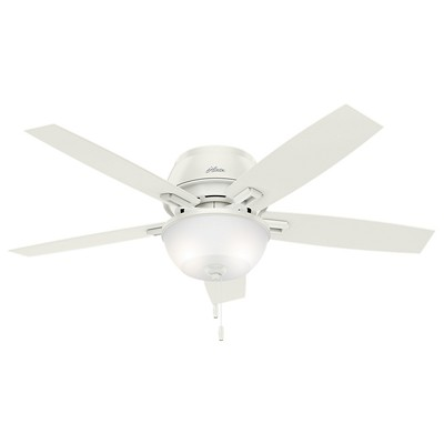hunter fan Donegan Collection - 52in Fresh White Three Light Light Kit 53343 FAN Donegan 52in Fresh White Low Profile Fan white ceiling fans