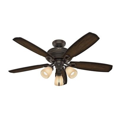 hunter fan Ambrose Collection - 60in Onyx Bengal Three Light Kit 53354 FAN Hunter Ceiling Fans