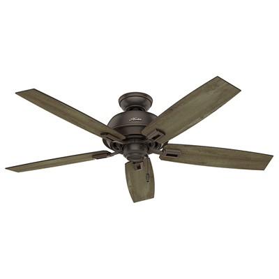 hunter fan Donegan Collection - 52in Onyx Bengal No Light Kit ETL Damp 54167 FAN Hunter Outdoor Ceiling Fans