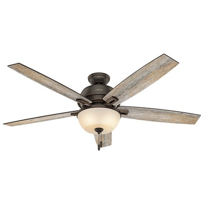 hunter fan Donegan Collection - 60in Onyx Bengal Bowl Light Kit 54170 FAN Donegan 60in Onyx Bengal Ceiling Fan