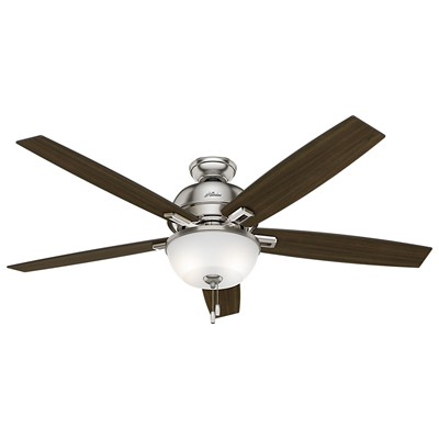 hunter fan Donegan Collection - 60in Brushed Nickel Bowl Light Kit 54172 FAN Hunter Ceiling Fans