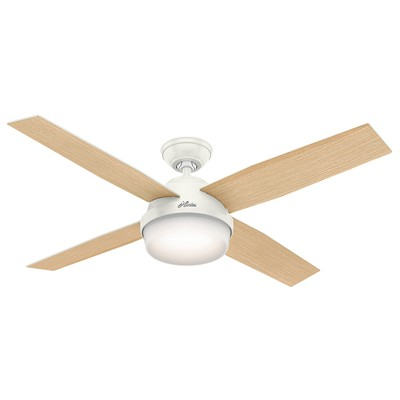 hunter fan Dempsey Collection - 52in Fresh White Integrated Light Kit 59217 FAN Hunter Ceiling Fans