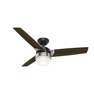 hunter fan Flare - 48in Matte Black + Brushed Nickel 59228 FAN Flare 48in Black and Nickel Fan