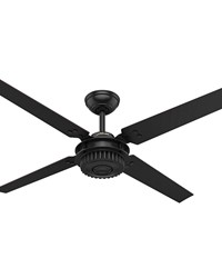 Chronicle 54in Satin Black Ceiling Fan Damp by