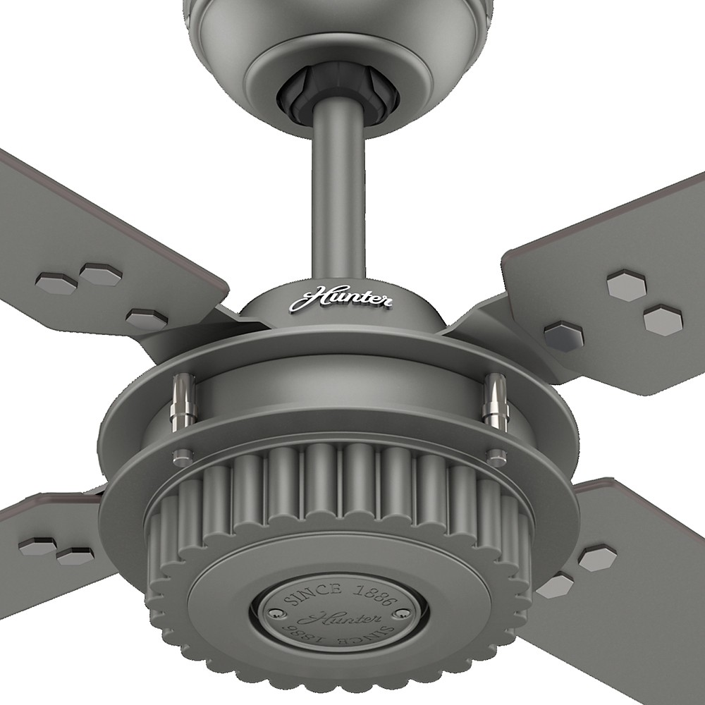 Chronicle 54in Brushed Slate Ceiling Fan Damp