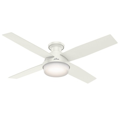 hunter fan Dempsey Collection - 52in Fresh White Low Profile Integrated Light Kit 59242 FAN Dempsey 52in Fresh White Low Profile Fan