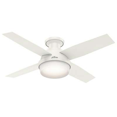 hunter fan Dempsey Collection - 44in Fresh White Low Profile Integrated Light Kit 59244 FAN Dempsey 44in Fresh White Low Profile Fan