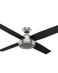 Dempsey 52in Brushed Nickel Fan by