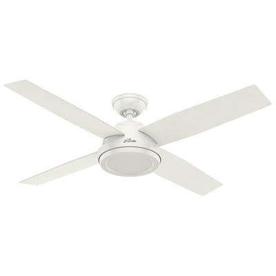 hunter fan Dempsey Collection - 52in Fresh White No Light Kit 59250 FAN Dempsey 52in Fresh White Ceiling Fan