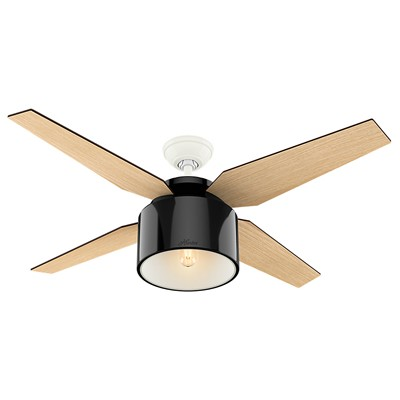 hunter fan Cranbrook Collection - 52in Gloss Black 59257 FAN Cranbrook 52in Gloss Black Ceiling Fan
