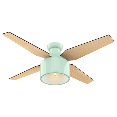 hunter fan Cranbrook Collection - 52in Mint Green Low Profile 59260 FAN Hunter Ceiling Fans