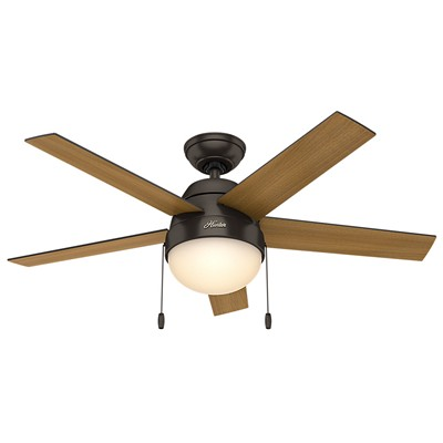 hunter fan Anslee Collection - 46in Premier Bronze Integrated Light Kit 59265 FAN Anslee Premier Bronze 46in Ceiling Fan