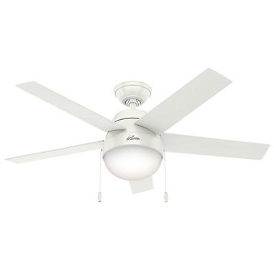 hunter fan Anslee Collection - 46in Fresh White Integrated Light Kit 59266 FAN Anslee Fresh White 46in Ceiling Fan