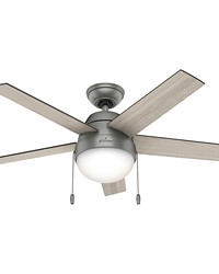 Anslee 46in Integrated Light Kit Matte Silver FAN