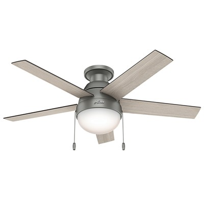 Anslee 46in Low Profile Integrated Light Kit Hunter Ceiling Fans