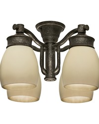 Outdoor Four-Light Fixture Aged Bronze by