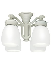 Outdoor Fourlight Fixture Cottage White by