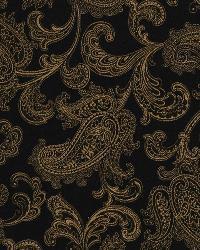 Black Suzani Fabric  Londra Caviar