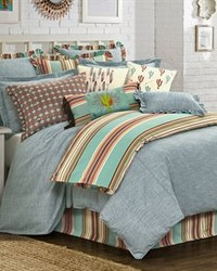 3PC Chambray Comforter Set Super Queen by
