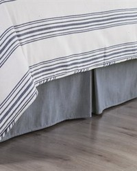 Chambray Bedskirt Queen by