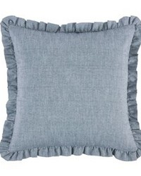 Chambray Euro Sham with Ruffle Design by
