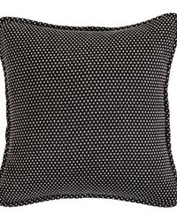 Polka Dot Pillow Reverses to Solid Black 20x20 by