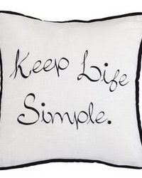 Keep Life Simple Embroidery Pillow 18x18 by