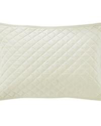 Velvet Quilted Sham Standard Cream by