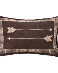 Embroidery Arrow Pillow 12x19 by