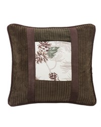 Pinecone Pillow with Corduroy Detail by